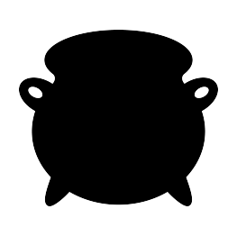 cauldron vector silhouette