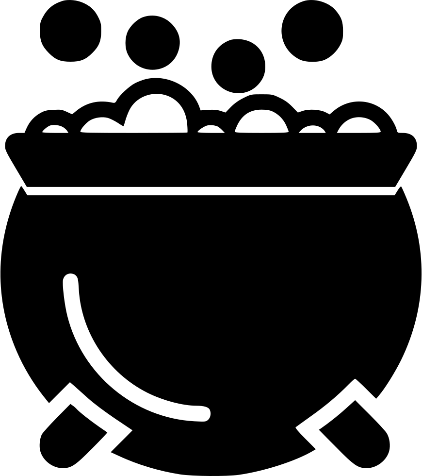 Cauldron vector gothic. Bubbling svg png icon