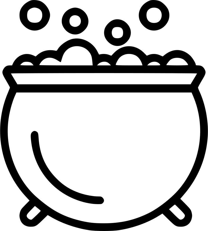 Cauldron svg outline. Bubbling png icon free