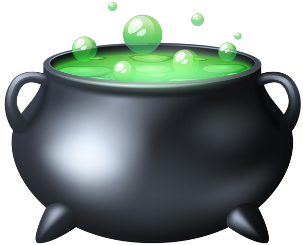 Cauldron vector gothic. Black encode clipart to