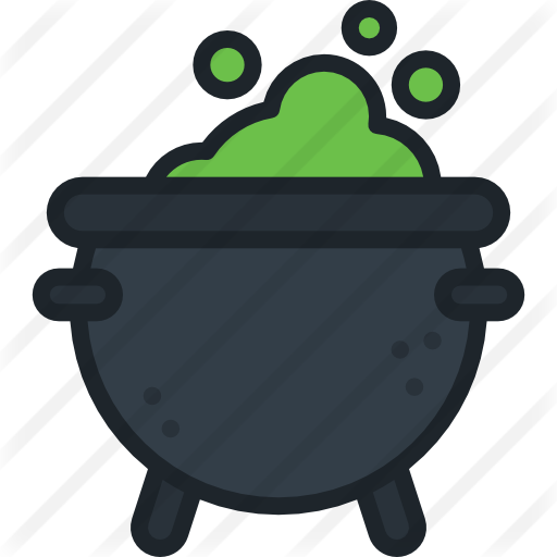 Cauldron vector green. Free food icons