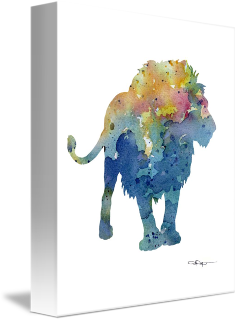 Cauliflower drawing watercolor. Lion by david rogers