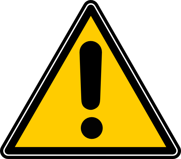 Icon clip art at. Caution clipart png black and white stock