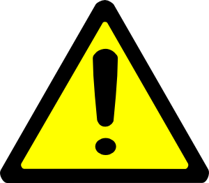 Warning sign clip art. Caution clipart png freeuse download