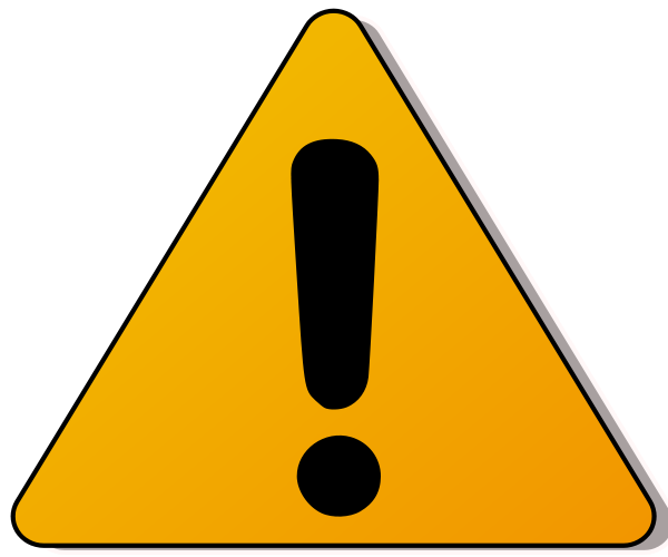 Warning . Caution clipart royalty free
