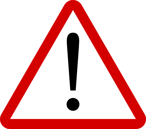 Caution clipart. Warning clip art sign