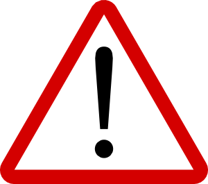 Warning sign clip art. Caution clipart transparent black and white stock