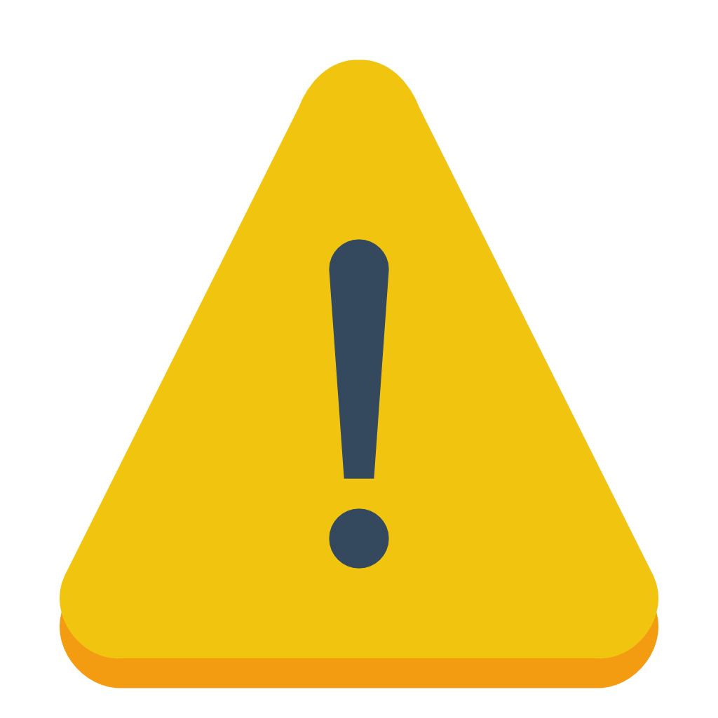 Caution vector. Free icon png download