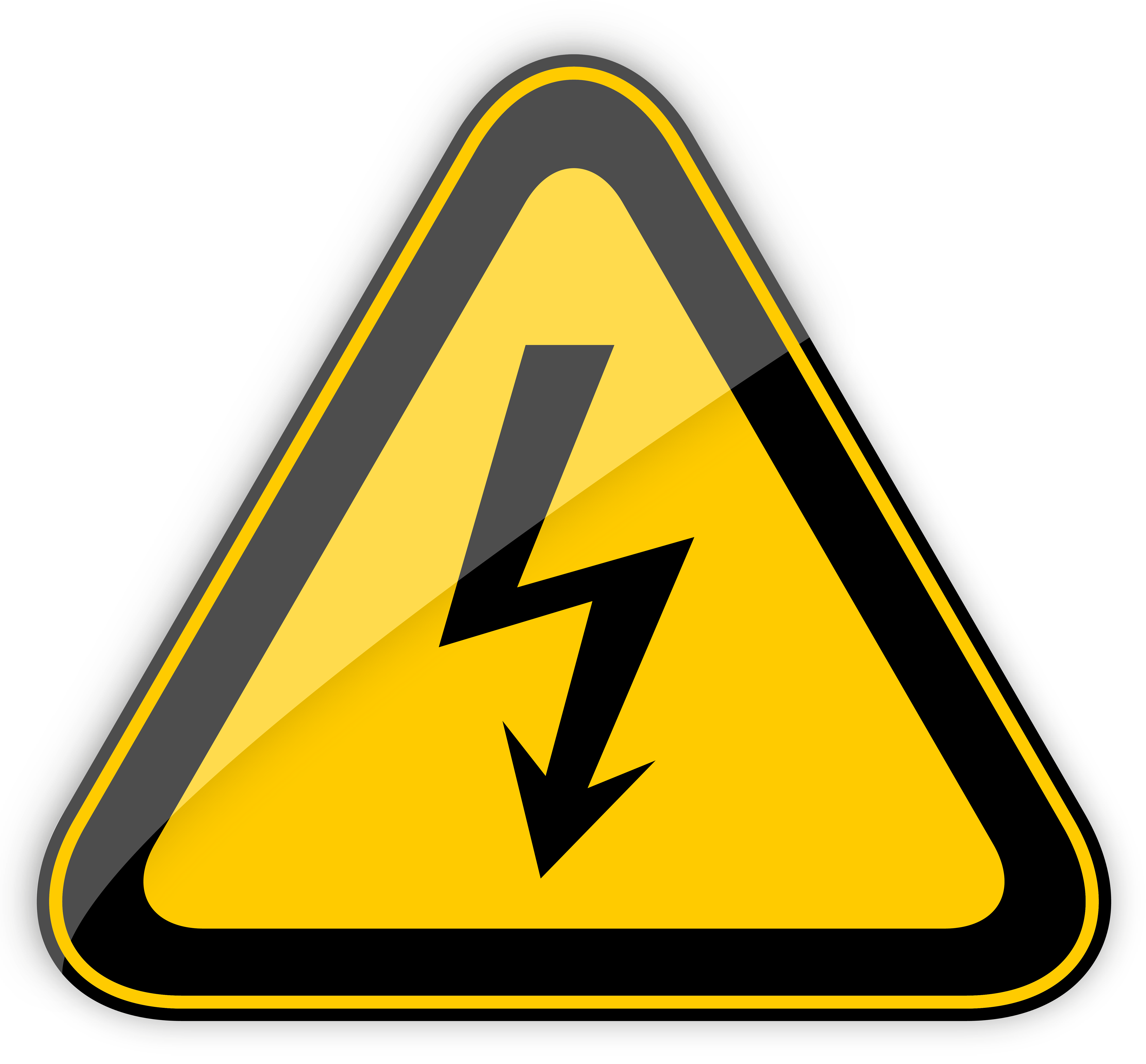 Caution sign png. High voltage warning clipart