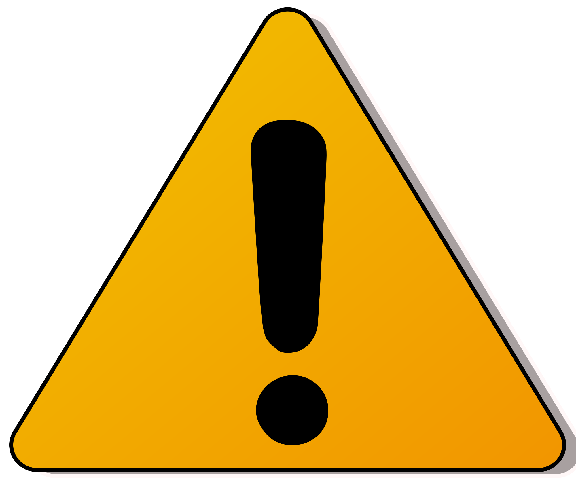 Caution sign png. File used on roads