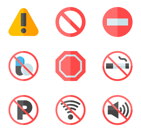 Caution vector. Icons free public signs