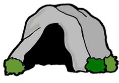 Cave clipart - Pencil and in color cave clipart