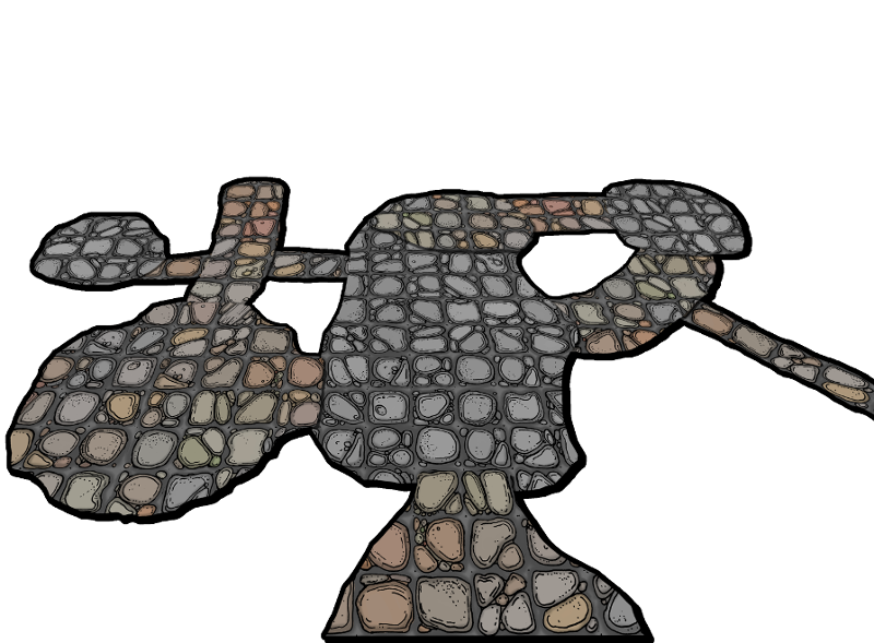 Cave clipart cavern. Mock up of possible