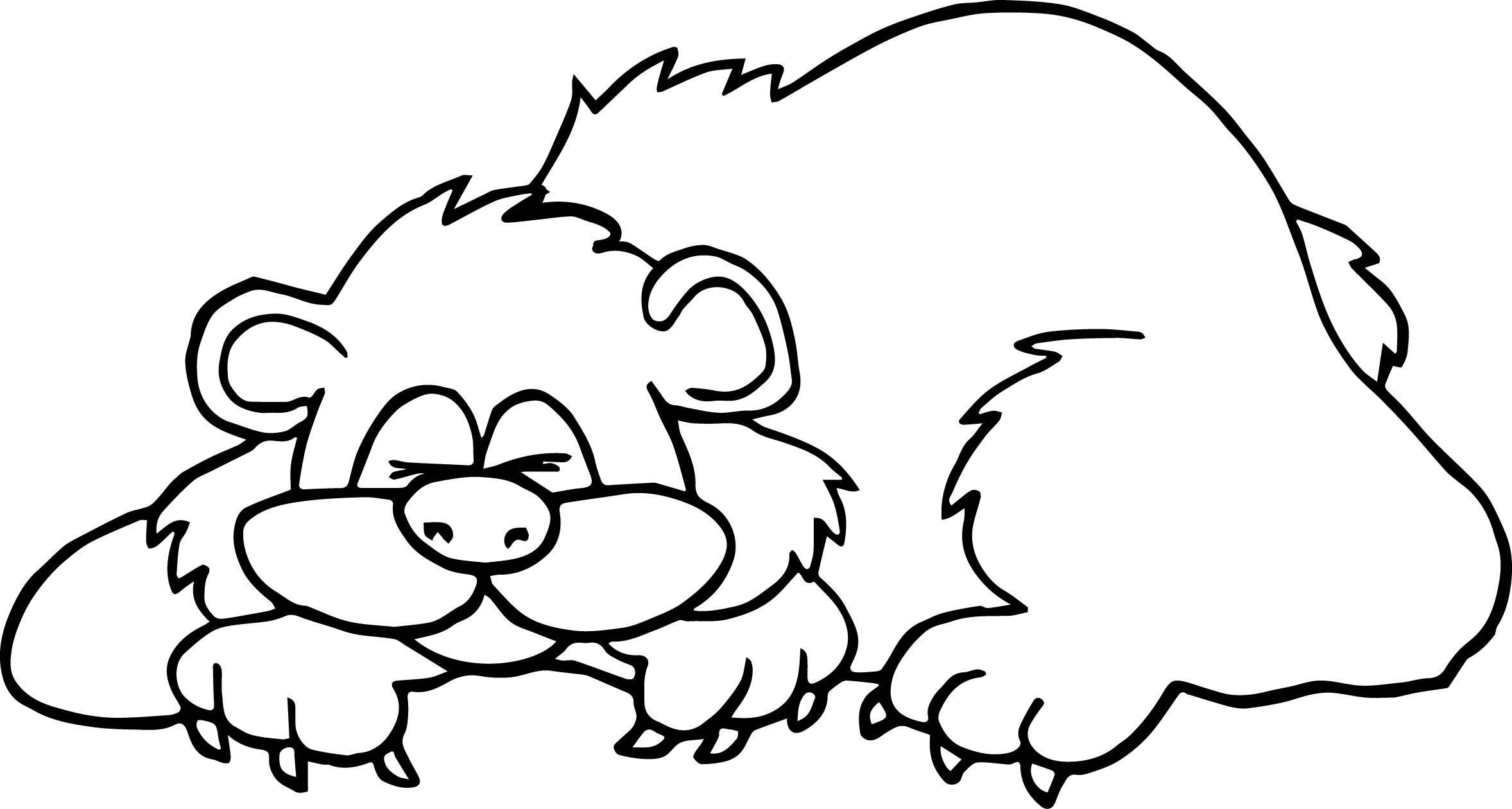 Cave clipart coloring page. Approved hibernating bear fresh