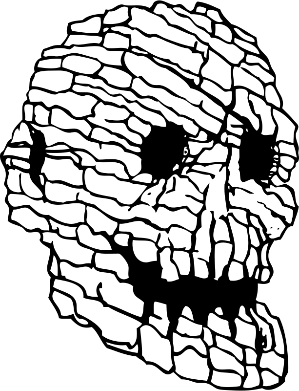 Cave clipart coloring page. Skull rock great free