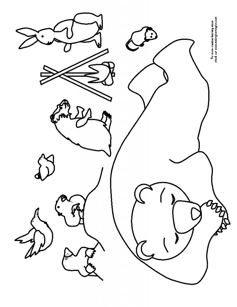 Amazing hibernation pages bear. Cave clipart coloring page clip free download