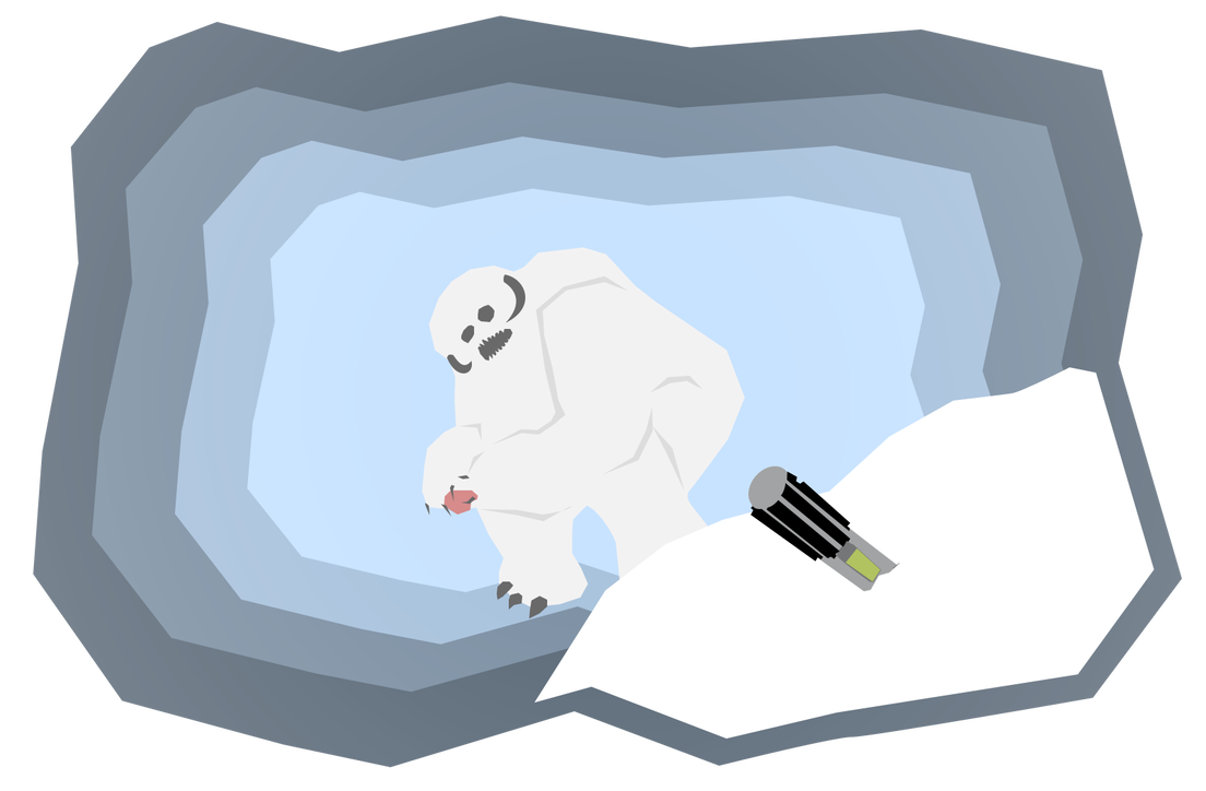 Wampa by sonarfoobthegreat on. Cave clipart lair clip art library stock
