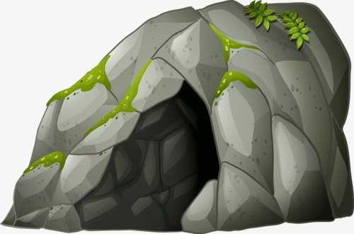 Cave clipart stone age cave. Ancient time primitive tools