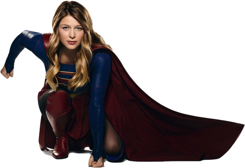 Cbs supergirl fan art logo png file. Melissa benoist as crouching