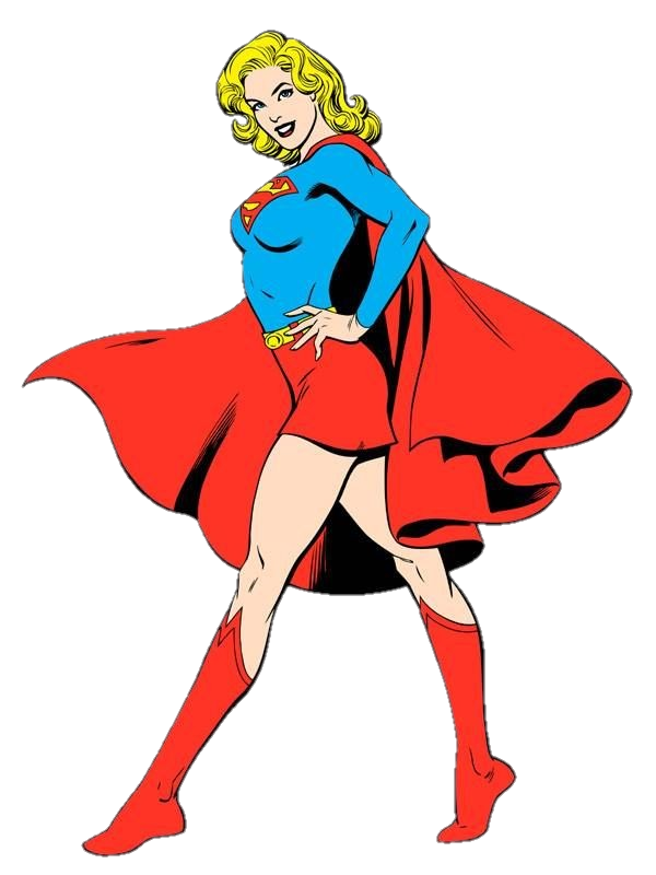 Transparent comic supergirl