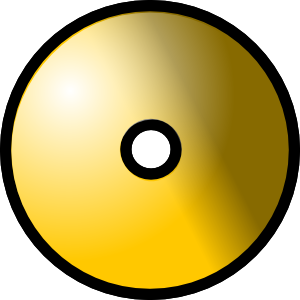 gold cd png