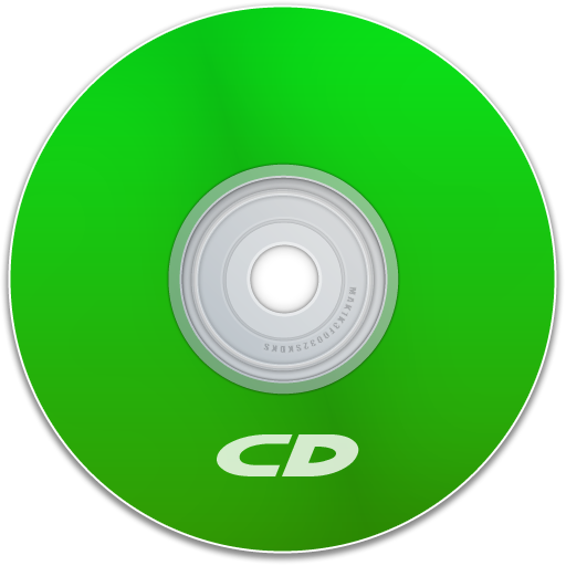 Transparent cd green. Icon extreme media icons