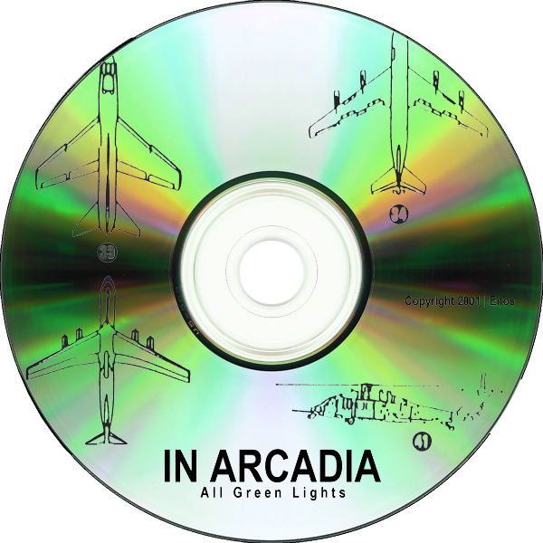 Transparent cd green. In arcadia all lights