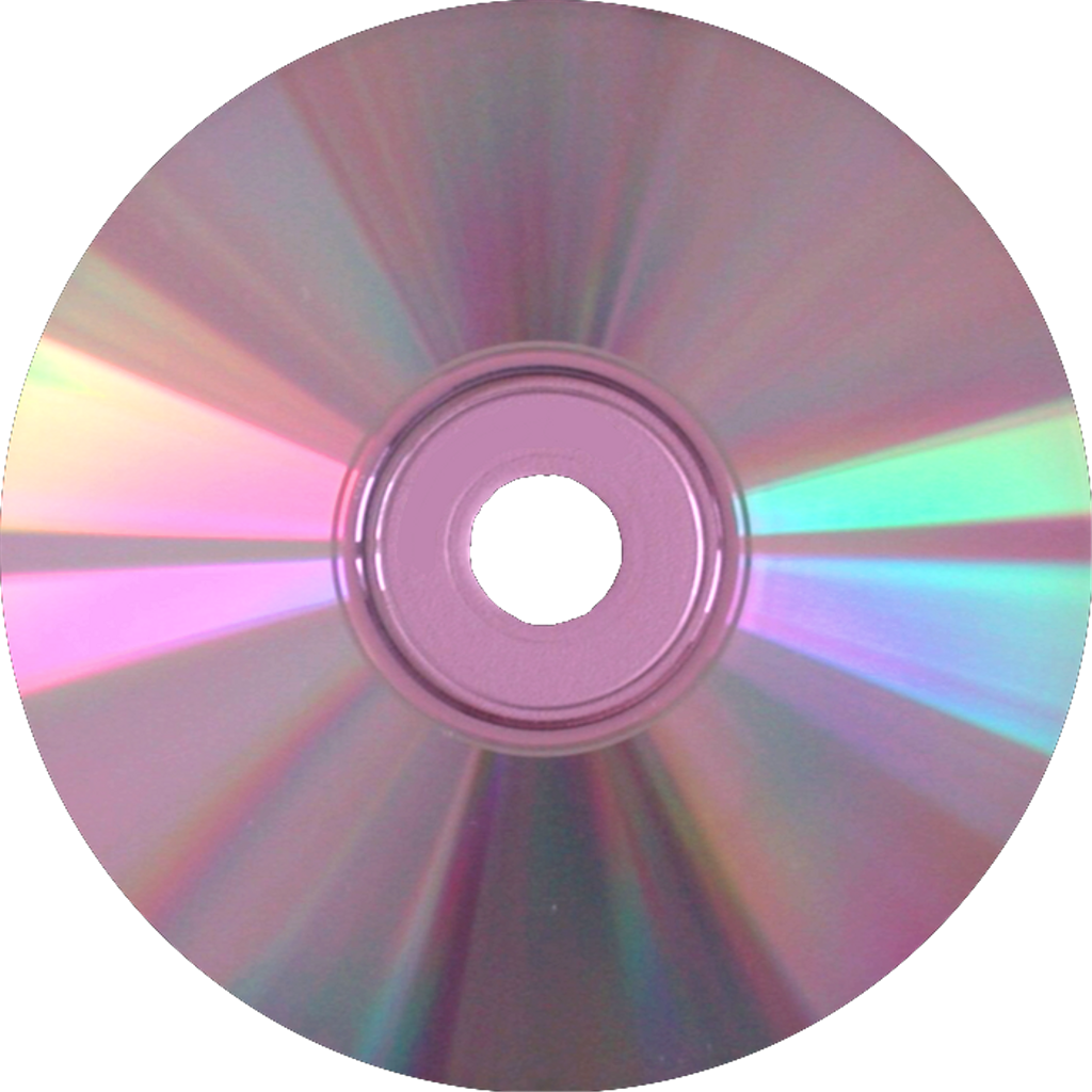 Cd transparent holographic. Holo pink music record