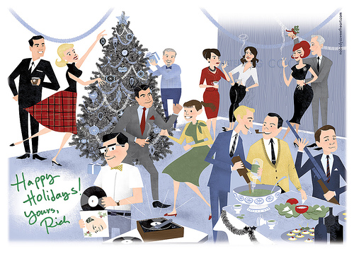 Celebration clipart office. Holiday party cartoon for