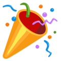 Celebration emoji png. Party popper on
