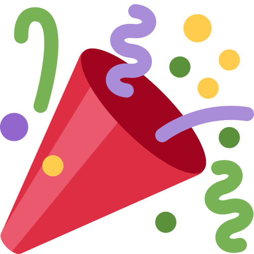 Party poppers png. Twitter twemoji