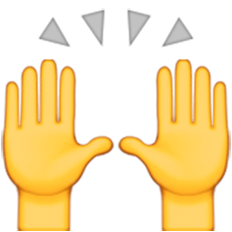 Celebration emoji png. Person raising both hands