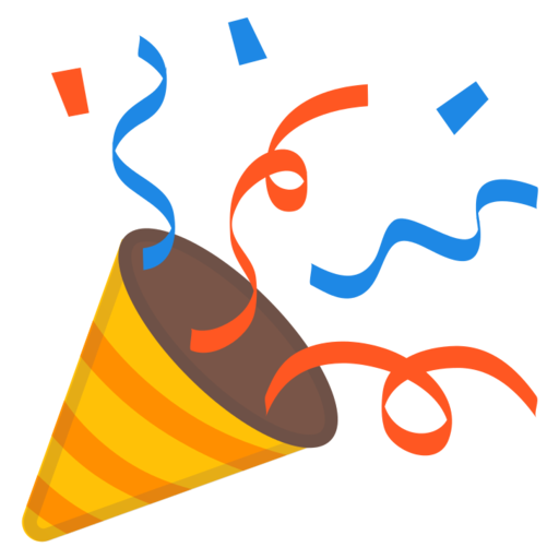 Celebration emoji png. Google android pie