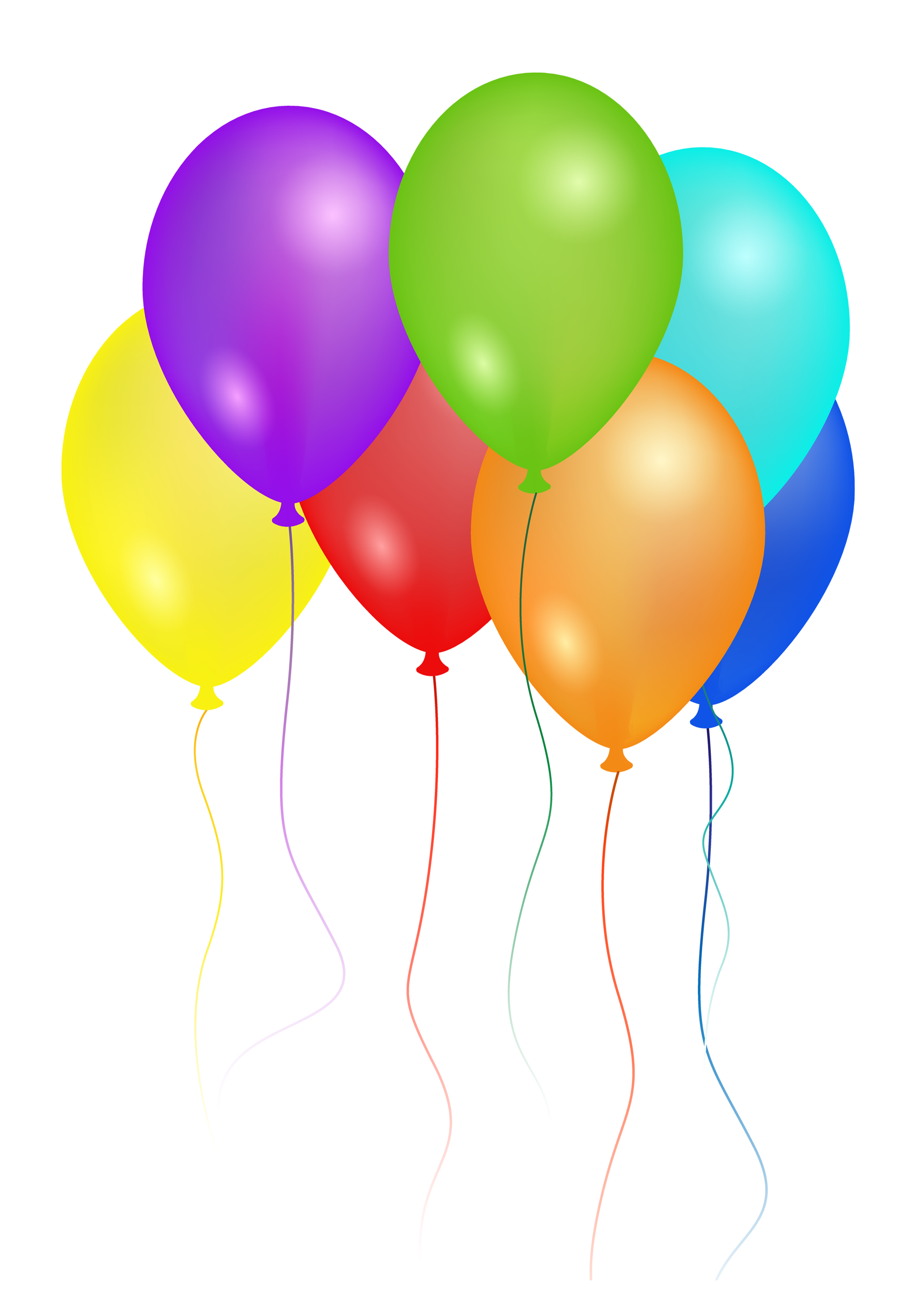 Colorful balloons free transparent. Ballon clipart birthday accessory svg download