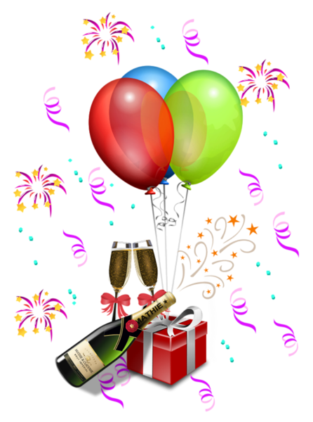 Transparent decoration birthday. Party png clipart balloons