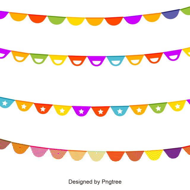 Decor vector vintage. Colorful garlands for a