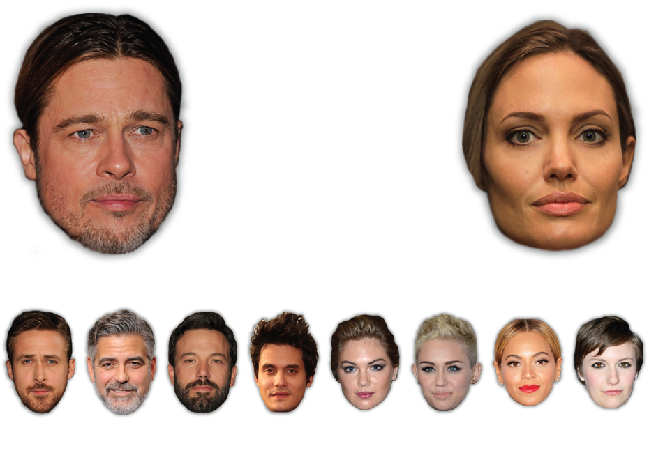 Celebrity face png. Scientifically beautiful how hollywood