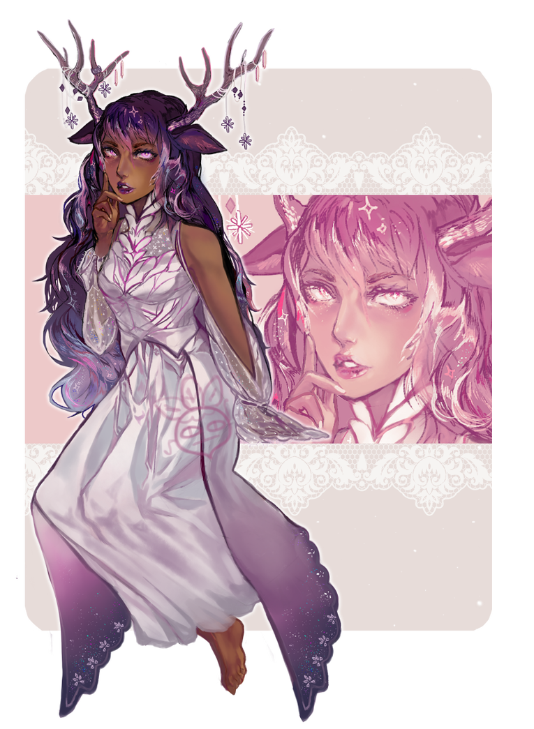 Celestial drawing goddess. Custom by paimon adopts