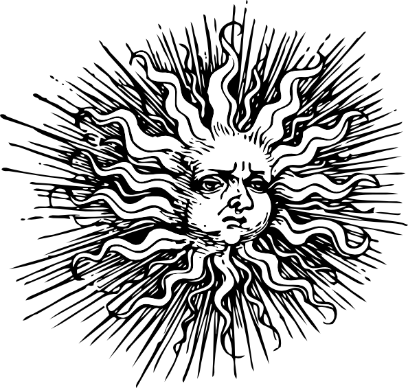 Sun clipart swirl. Collection of free auln