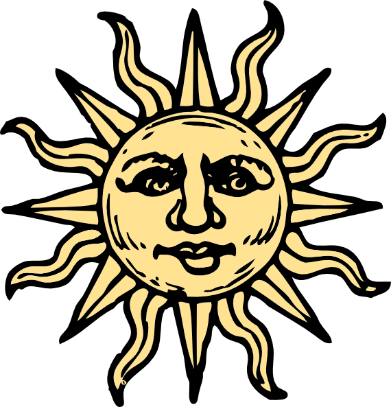 Sun drawings woodcut clip. Trippy vector graphic transparent
