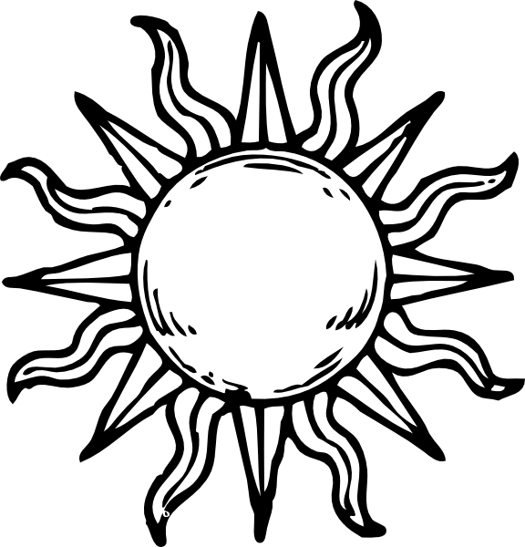 Celestial drawing simple. Sun and moon easy