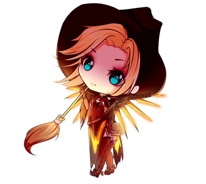 Drawing witches kawaii. Witch mercy by kelsobunny