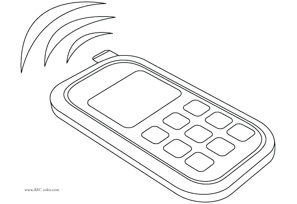 Cell clipart colouring in. Phone coloring pages page