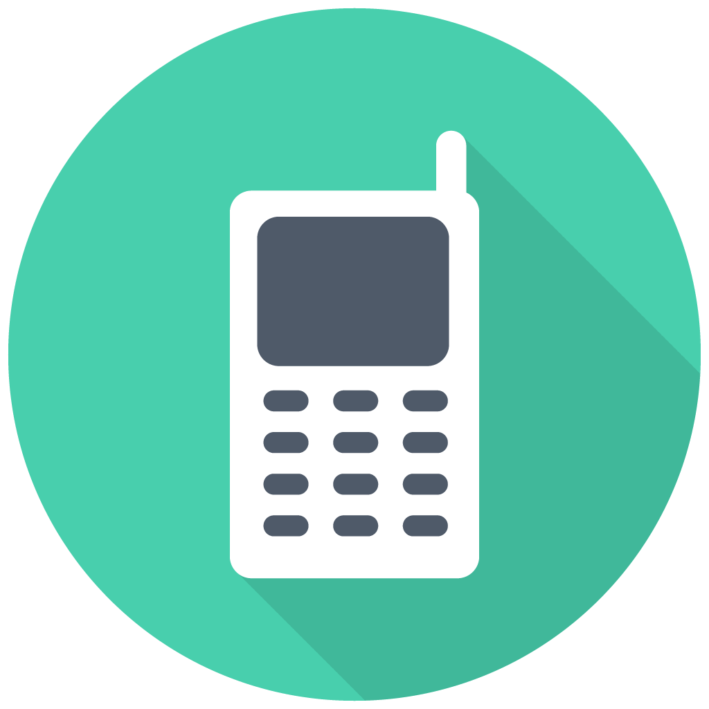 Cell phone png icon. Mobile free download as