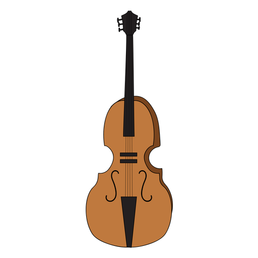 Cello vector transparent background. Violoncello musical instrument doodle