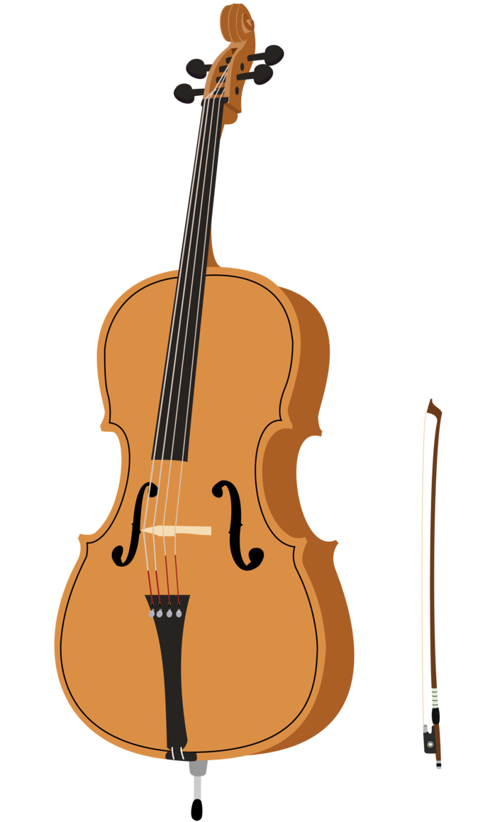 Fiddle drawing abstract. Collection of free cellos