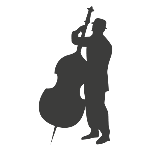Cello vector transparent background. Musician silhouette png svg
