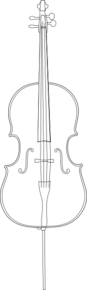 Cello vector silhouette. Clip art at clker