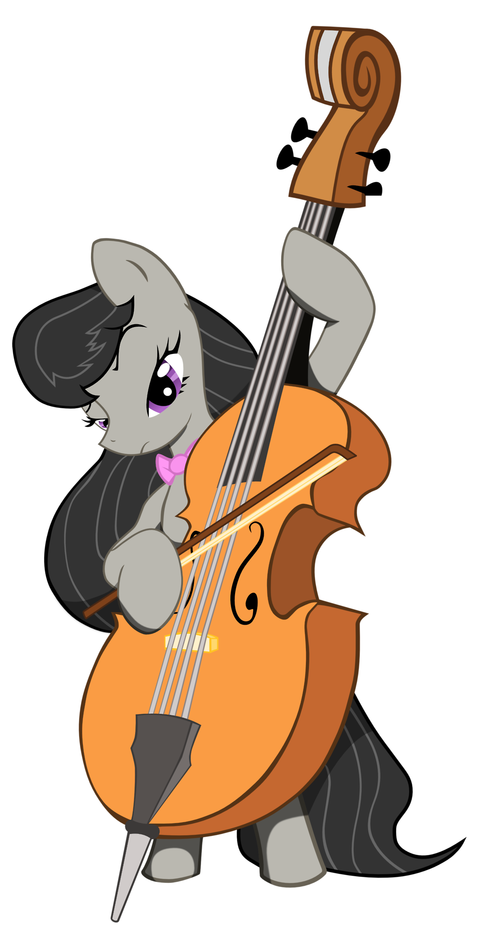 Cello vector transparent background. Octavia melody playing