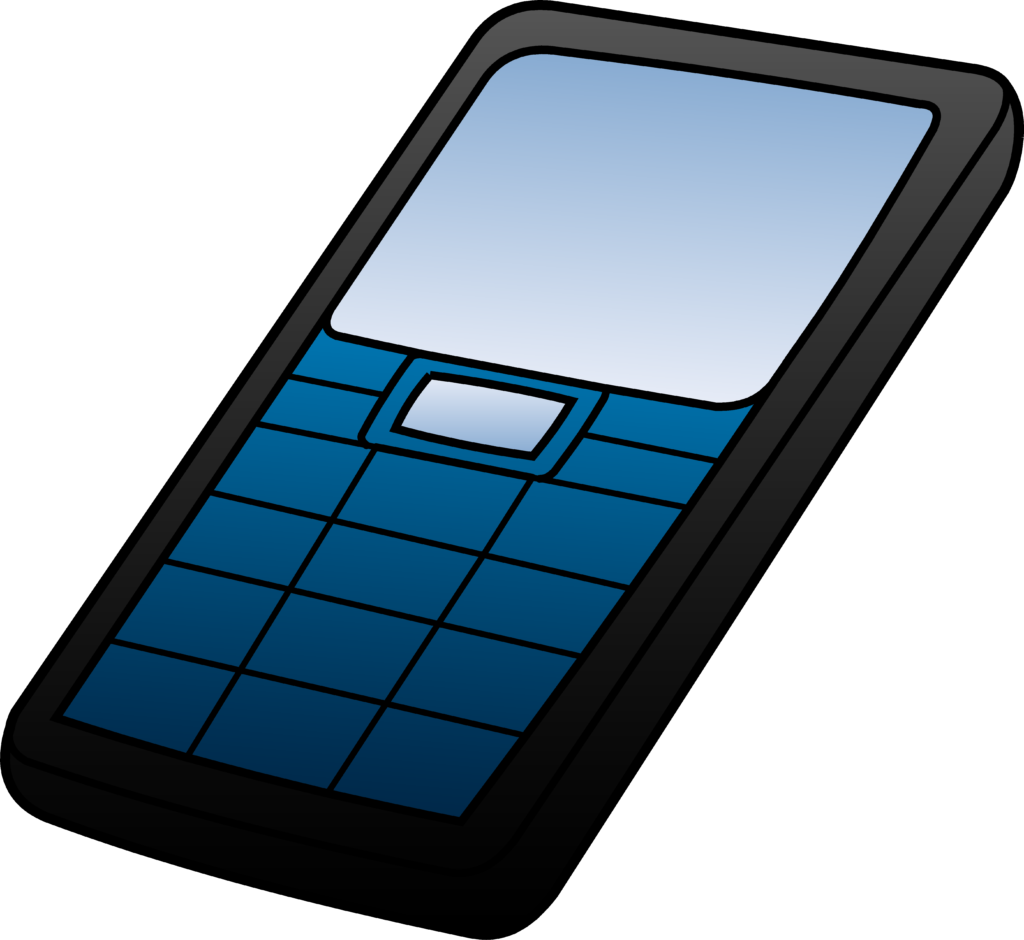 Cellphone clipart blue. Mobile at getdrawings com